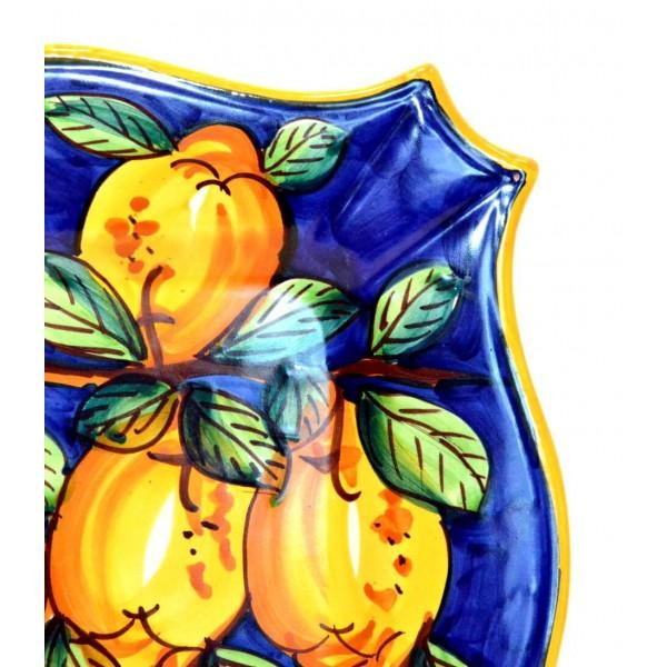 Squared Plate Lemon Blue