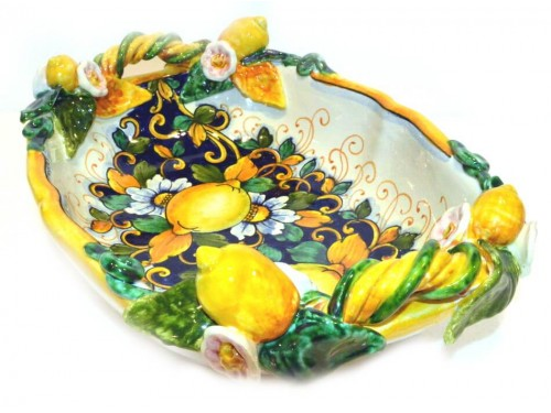 Oval Fruit Bowl Lemon C.