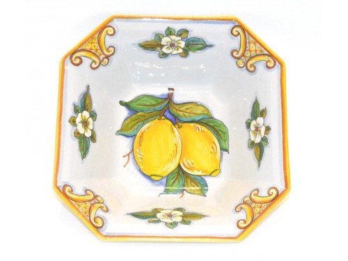 Octagonal Fruit Bowl Lemon