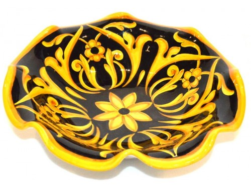 Fruit Bowl Barocco Black