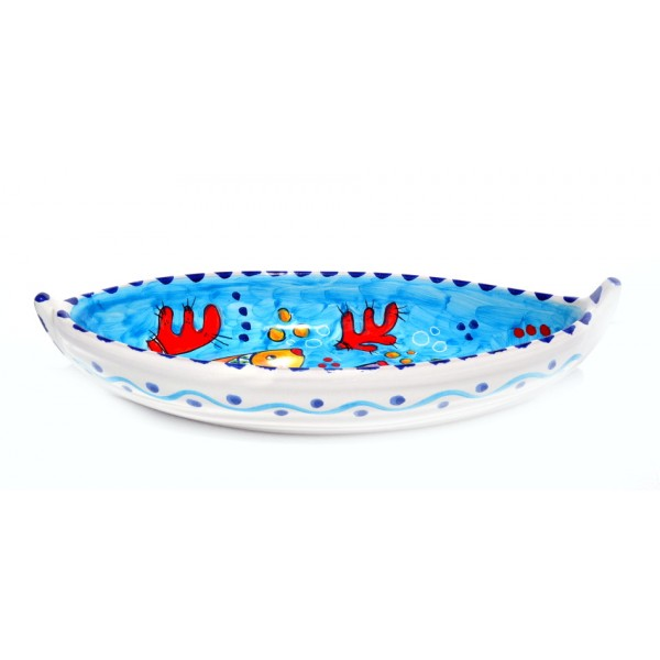 Boat Fishes design light blue