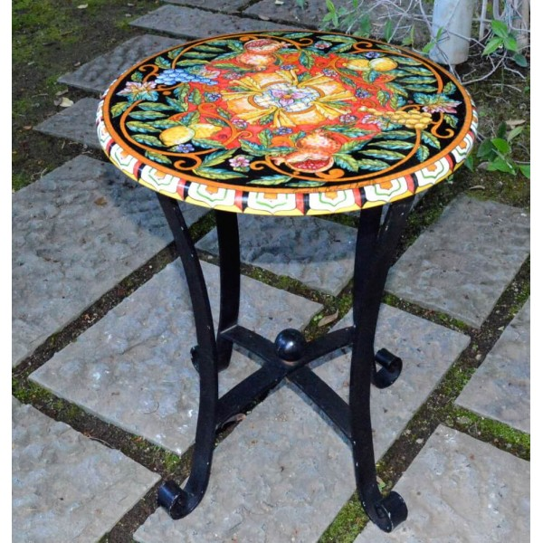 """Coffee Table """"Mixed Fruit"""" Black - Red"""