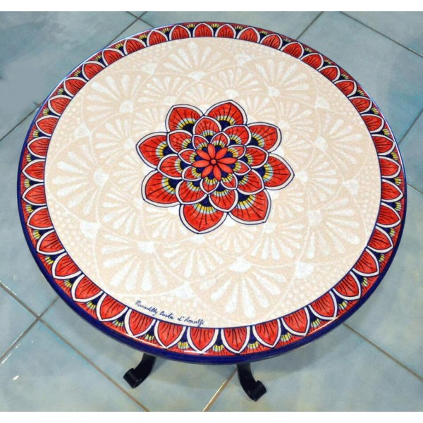 Coffee Table Peacock Red (from 16 to 23,60 inches)