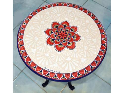 Tavolo Caffè Pavone Rosso (da 40 a 60 cm)