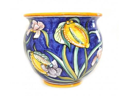 Plant Pot Iris Lemon Blue
