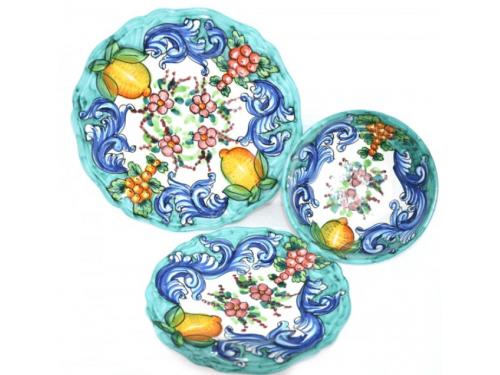 Set Piatti Barocco Verde