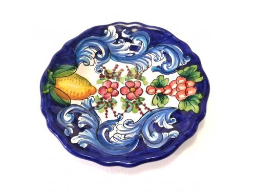Salad Plate Barocco Blue