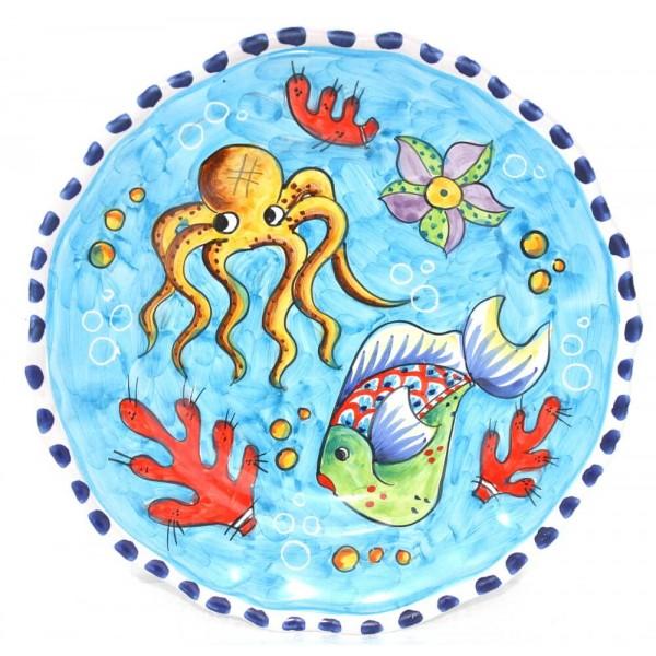 Dinner Plate Fishes light blue