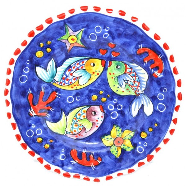 Dinner Plate Fishes blue