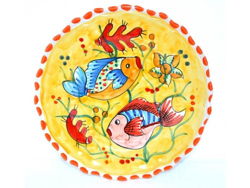 Salad Plate Fishes yellow