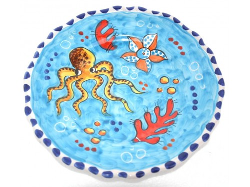 Salad Plate Fishes Light Blue