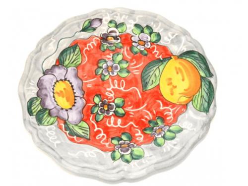 Dinner Plate Lemon / Flowers Grey