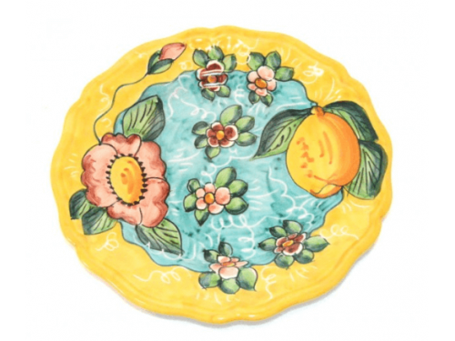 Dinner Plate Lemon / Flowers yellow
