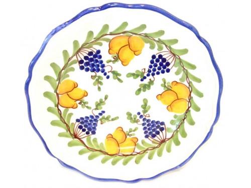 Piatto frutta Limoni e Uva