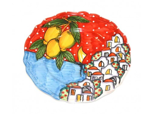 Salad Plate Houses red