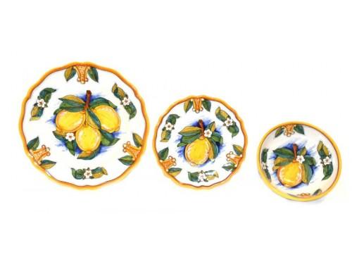 Set Dishes Lemon Conca