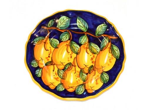 Dinner Plate Lemon Blue