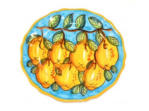 Dinner Plate Lemon light Blue