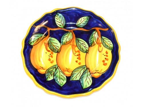 Piatto frutta Limoni Blu