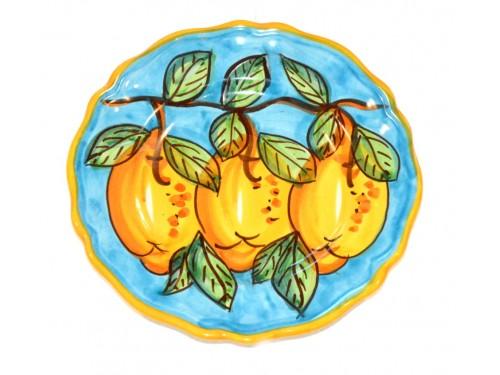 Piatto frutta Limoni Celeste