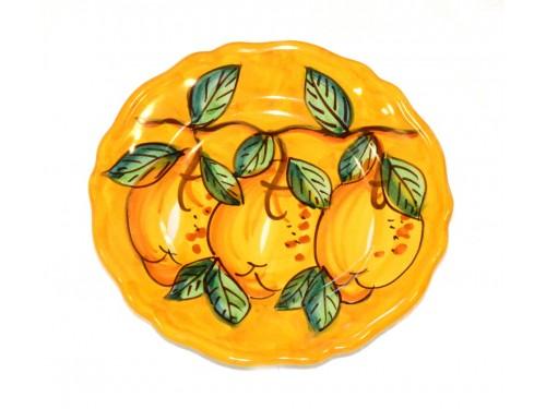Piatto frutta Limoni Giallo