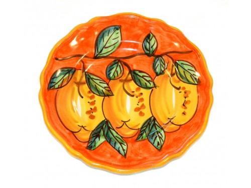Piatto frutta Limoni Arancione