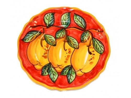 Piatto frutta Limoni Rosso