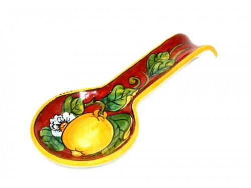 Big Spoon Rest Lemon Red