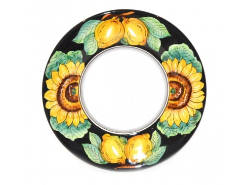 Dinner Plate Lemon Sunflower Black