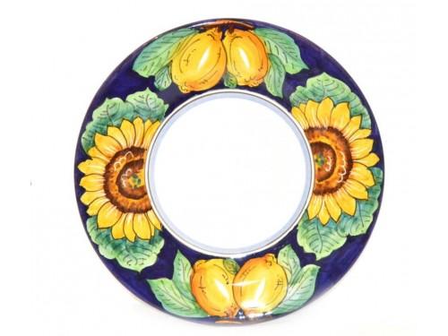 Dinner Plate Lemon Sunflower Blue