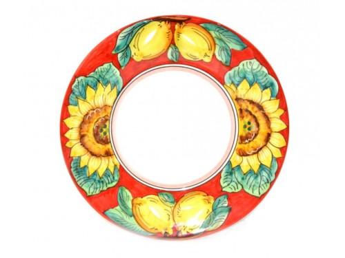 Salad Plate Lemon Sunflower red