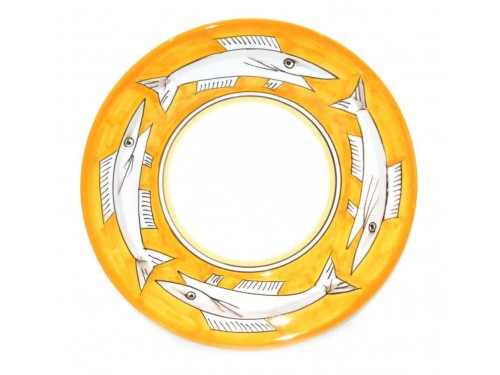 Dinner Plate Anchovies yellow
