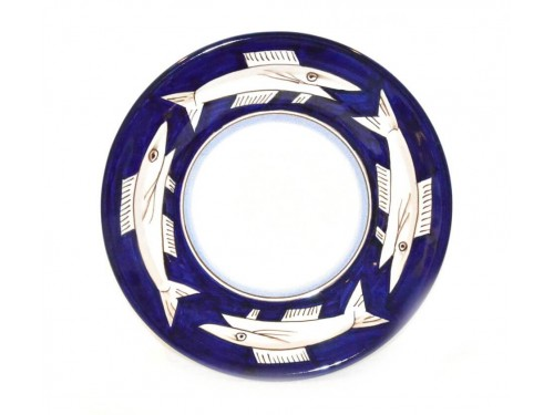 Dinner Plate Anchovies Blue
