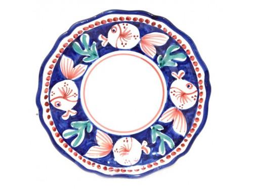 Dinner Plate puffer fish blue