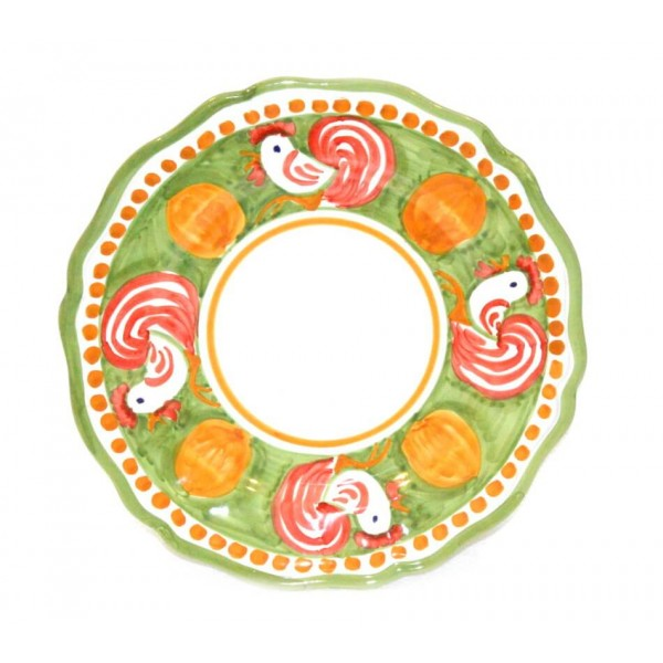Dinner Plate Rooster green