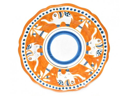 Dinner Plate elephant orange