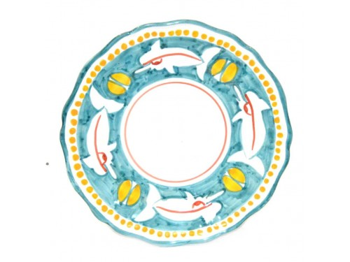 Piatto frutta squalo acqua marina