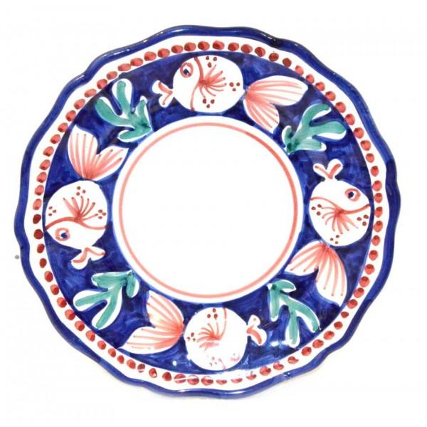 Salad Plate puffer fish blue