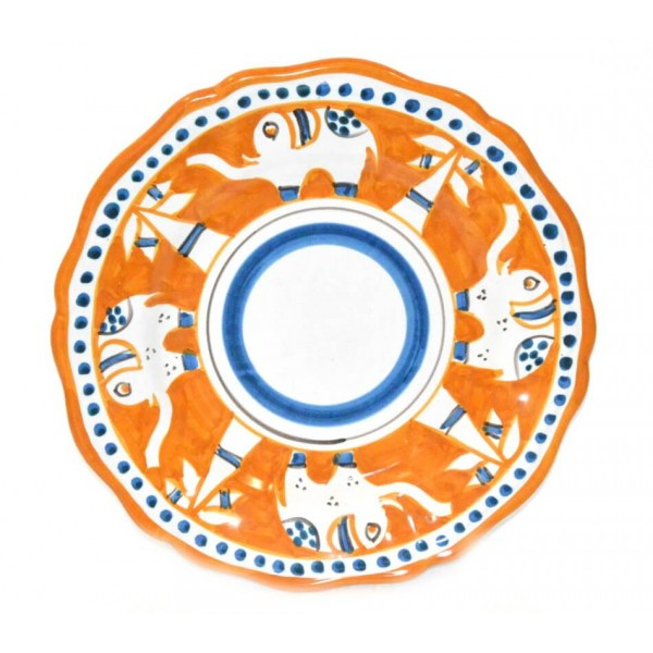 Salad Plate Elephant orange