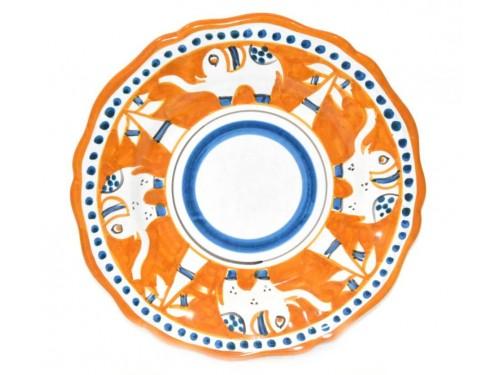 Piatto frutta elefante arancione