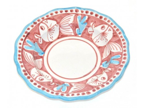 Pasta Plate puffer fish pink