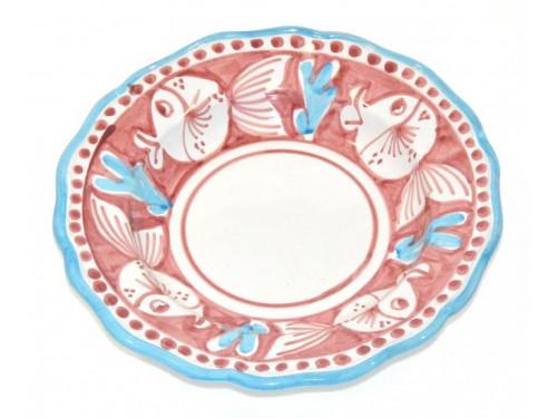 Piatto Fondo Pesce palla rosa