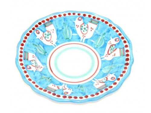 Pasta Plate birds light blue