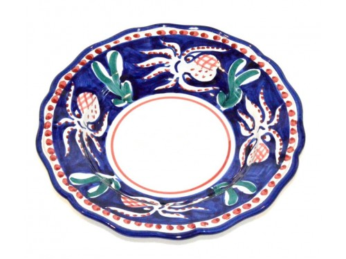 Pasta Plate Octopus blue