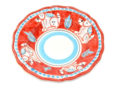 Pasta Plate Dog Red