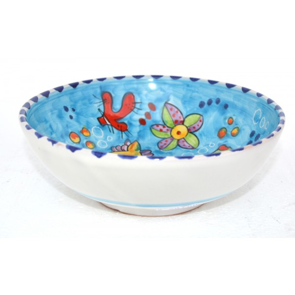 Soup bowl Fishes Light Blue