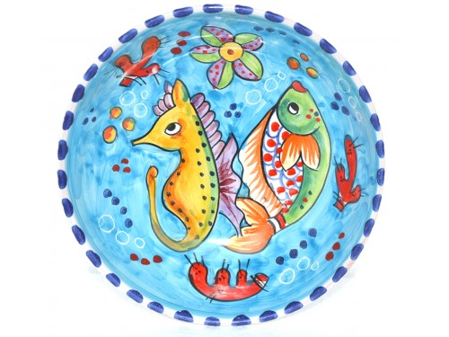Soup bowl Fishes Light Blue