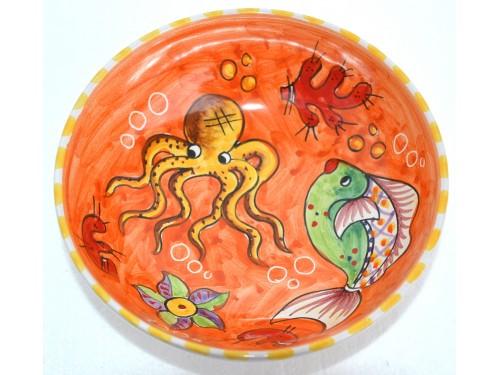 Soup bowl Fishes orange