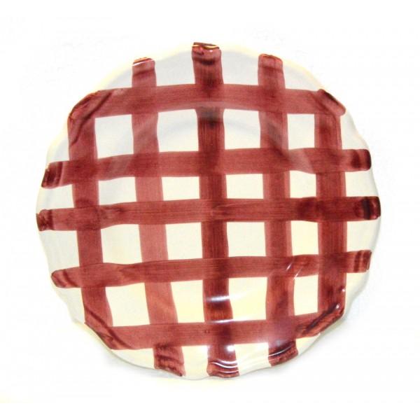 Dinner Plate Purple crossed lines