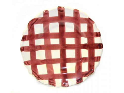 Salad Plate purple crossed lines